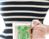 robot mug.