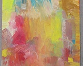 Fire Inside: Abstract oil painting on canvas board