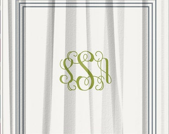 popular items for monogrammed shower curtain on etsy
