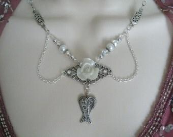 Victorian Rose Necklace, victorian jewelry art nouveau jewelry art deco jewelry edwardian renaissance neo victorian rockabilly pin up