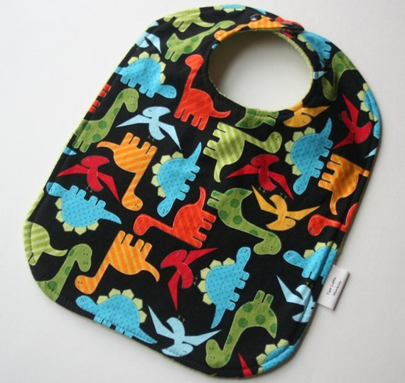 Tidy Tot Big Bib - Dinosaurs (Feeding Bib for Babies and Toddlers)