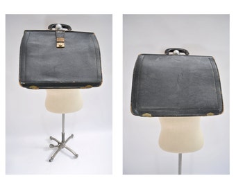 vintage leather bag LEATHER BRIEFCASE brief case laptop satchel cheney of england distressed