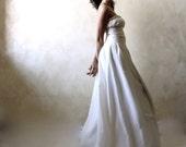 Wedding Dress, Wedding gown, Silk Bridal gown, A-line wedding dress, Medieval wedding dress, Peasant Wedding dress, plus size wedding dress