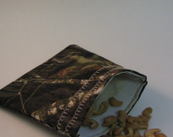 Mossy Oak Camo Snack Bags -  Real Tree Camouflage Bags - SET OF 10 -  Camouflage Snack Bag