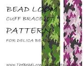 Bead Loom Cuff Bracelet Pattern Vol.26 - Camouflage - PDF File PATTERN