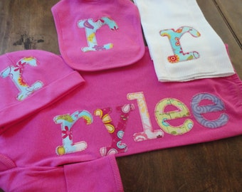 Personalized Infant Gown and Layette Set