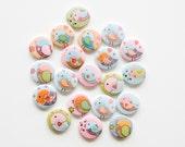 Buttons - Sweet Love Birds (set of 20)