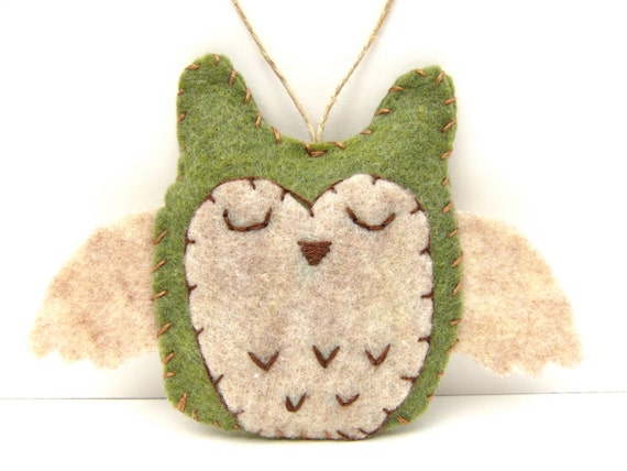 Woodland owl christmas ornament