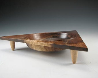 Triangular Walnut Bowl