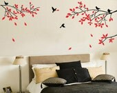 80inch birds tree----Removable Graphic Art wall decals stickers home decor