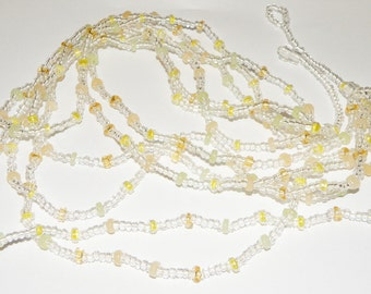 Vintage Clear Glass Multi Strand Necklace