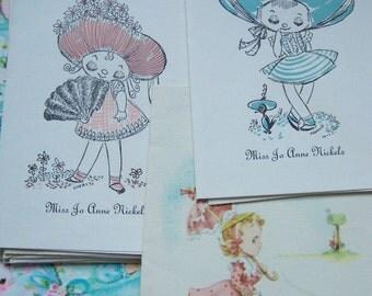 vintage paper ephemera cards
