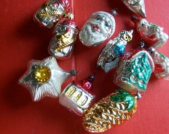 vintage variety of  holiday ornaments