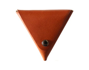 GREAT X-MAS GIFT >> Vegetable Tanned Leather Change Purse (Tan or Black)