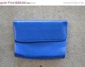 HALF OFF SALE Simple royal blue clutch handbag shoulder bag cross body bag
