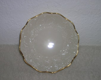 Lenox bowl, small, ivory with gold trim