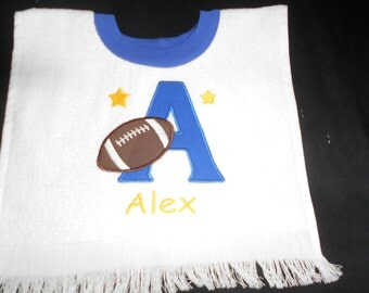 Football Initial Over the head Bib