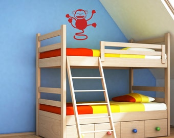 Kids Wall Decals - Hanging Happy Monkey