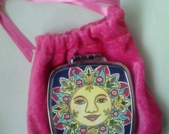 Sun Goddess Compact Mirror