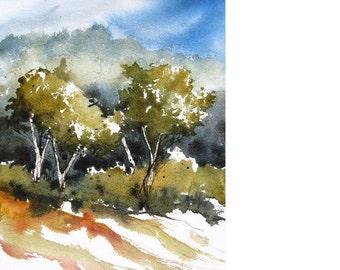 Little Aspen - Original Watercolor Painting
