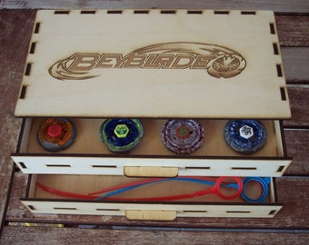 BEYBLADE Wood Case - For 8 complete BEYBLADE - 2 Drawers