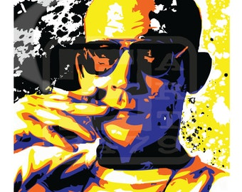 Wall Art Home Decor Hunter Thompson Pop Art Print