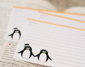 Recipe Cards - Pair of Penguins - Set of 40