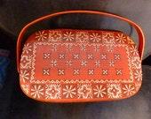 Vintage Red Caro Nan Basket Purse Rare Bandana Pattern.
