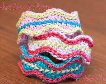 CROCHET PATTERN- Crochet Bracelet Tutorial, Crochet Jewelry Pattern- Instant PDF Download (7)