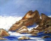 Original Maine Coast  Landscape Painting seascape,original artwork paintings,Nautical Painting