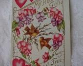 Vintage Valentine 1909 True Love Postcard