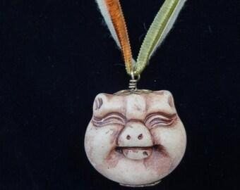 Happy Pig Pendant