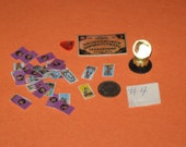 Dollhouse Miniature Handmade Ouija Board TAROT CARD Deck and Crystal Ball 34 piece Set no. 4
