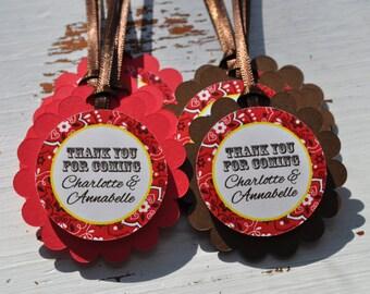 12 Cowgirl Birthday Favor Tags - Cowgirl Birthday Decorations - Western Birthday Party