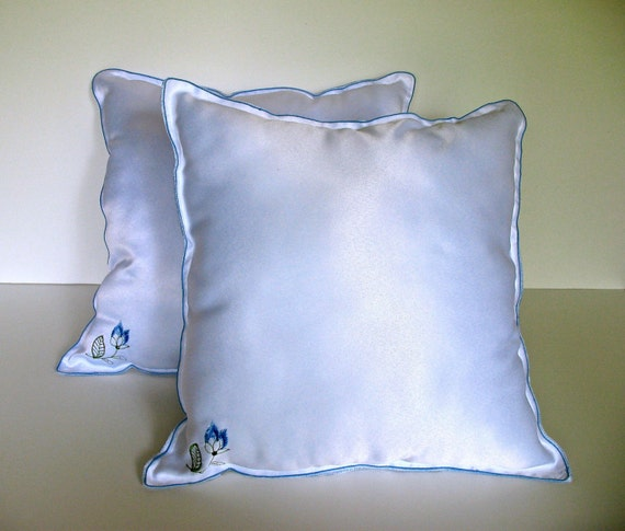 Pure White Silk Pillows