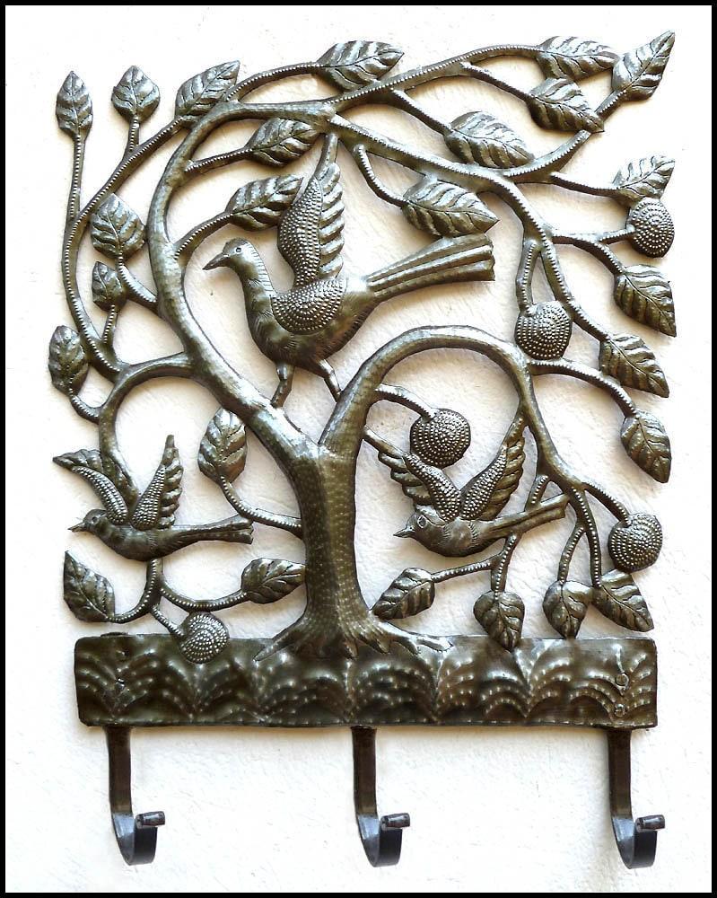 Metal Towel Hook Birds Flowers Metal Wall Hook Metal