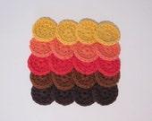 Reusable Cotton Balls / Mini Face Scrubbies - Set of 20 / Fall Colors