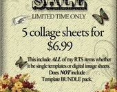 BUY any 5 for 6.99 Sale-Digital Sheets-Bottlecaps-Templates-Dominos