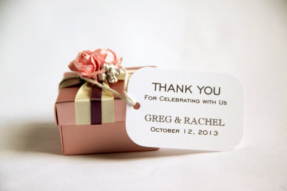 Contemporary Wedding Gifts: 50 Custom Wedding Favor Gift Tags Modern Thank You For