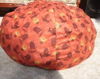 Adirondack Bean Bag Chair Cover - Lantern, Orange, Burnt Orange, Burnt Red, Yellow,  Beach, Beach Chair Gift Under 75 - Etsy Kids