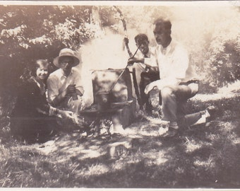 Vintage Photo - Happy Campers - Vintage Photograph, Vernacular (N)