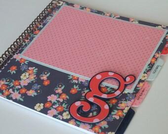Baby Memory Book * Birthday Photo Book * Girl Baby Book * Spunk & Love Modern Baby Book * GEORGIA Design