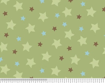 Mod Tod Green Stars by Sherri Berry Designs for Riley Blake, 1/2 yard