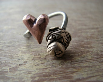 Shar pei dog love ring