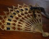 Steampunk Victorian Metal Fan