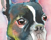 8x10 CUSTOM Dog Portrait Watercolor Pet Lover Painting Memorial