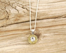 Bullet Necklace / 380 Auto Brass Bullet Head Necklace with .925 Sterling Silver Box Chain WIN-380-B-SBHN / Bullet Head Necklace