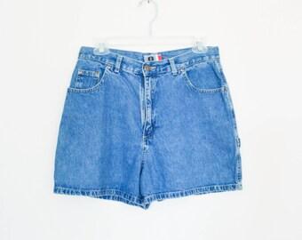 "90's High Rise Grunge Denim Shorts size - M/L waist 29"""