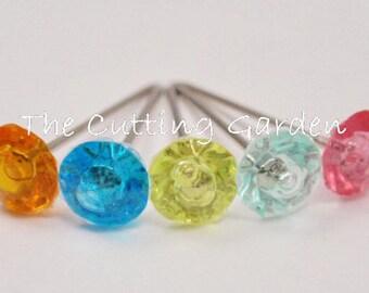 "Corsage / Boutonniere Assorted Diamond Pixie Pins 3/4"" 100 pcs"