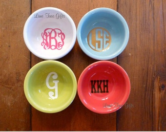 Monogram Ring Holder - Personalized Petite Ring Dish - Assorted Colors